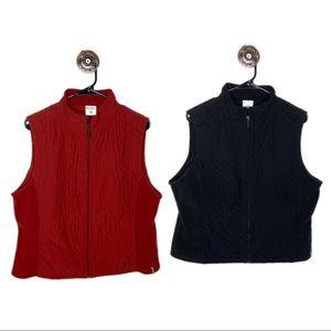 Bundle 2️⃣ Columbia Vest Women's XL - 1 red 1 blk